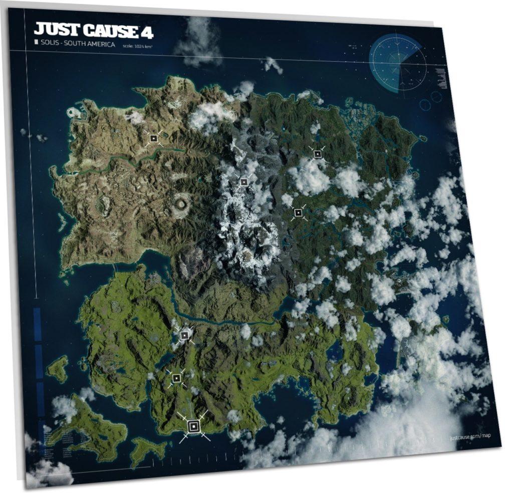 Just Cause 4 - Karte verdeutlicht die enorme Größe der Spielwelt