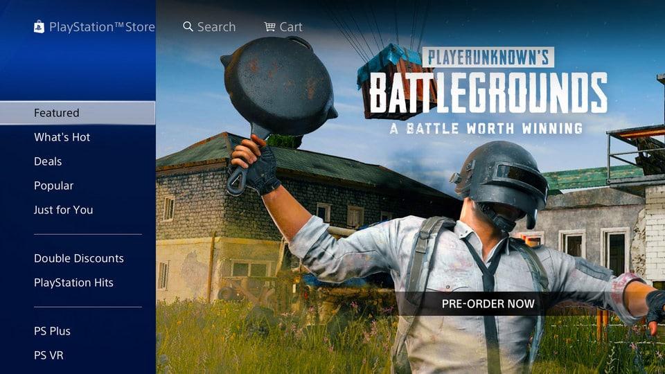 PUBG kommt! PlayStation Store veröffentlicht Banner