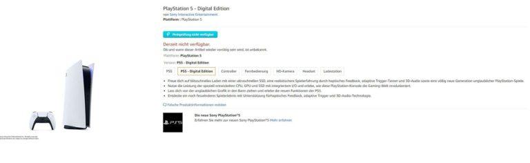 PS5 Konsole auf alternate verfügbar - Update 4